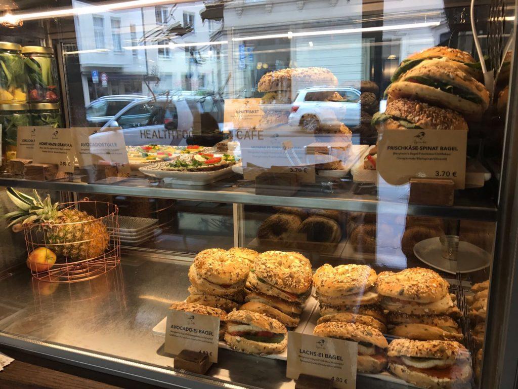 Leckere Bagels im Café Spatz