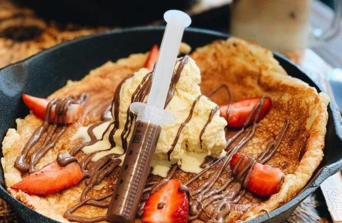 Im belgischen Viertel gibt es #foodporn in Form von Pancakes